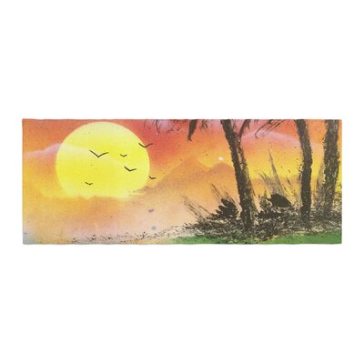 Infinite Spray Art Maui Sunrise Beach Bed Runner