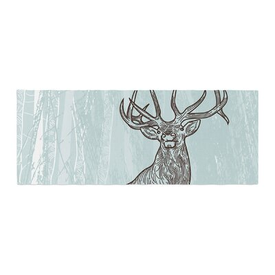 Sam Posnick Elk Scene Bed Runner