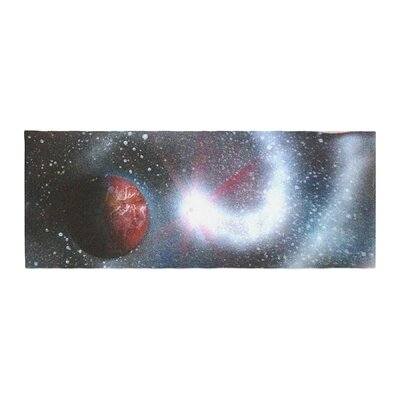 Infinite Spray Art Starburst Galaxy Bed Runner