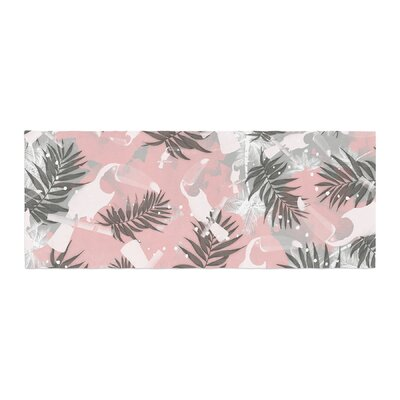 Mmartabc Toucan in the Jungle Watercolor Bed Runner