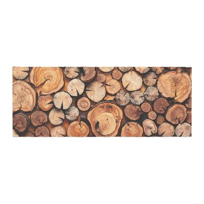 Susan Sanders Rustic Wood Logs Bed Runner