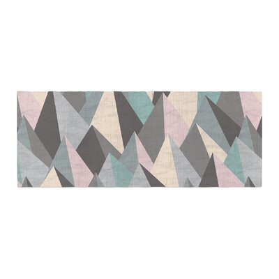 Michelle Drew Mountain Peaks III Geometric Bed Runner