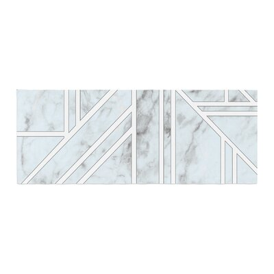 Marble Mosaic Geometric Digital Bed Runner