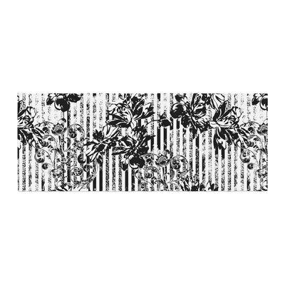 Victoria Krupp Stripes and Flowers Digital Bed Runner