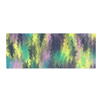 Hitidesign Marbling Color Digital Bed Runner