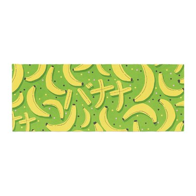 Strawberringo Banana Pattern Abstract Food Bed Runner