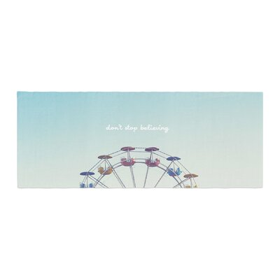 Libertad Leal Dont Stop Believing Ferris Wheel Bed Runner