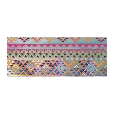Nika Martinez Tribal Native Pattern Bed Runner Color: Red