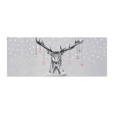 Nika Martinez Christmas Deer Snow Holiday Bed Runner