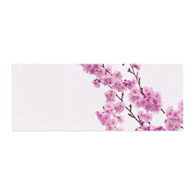 Monika Strigel Cherry Sakura Floral Bed Runner Color: Pink