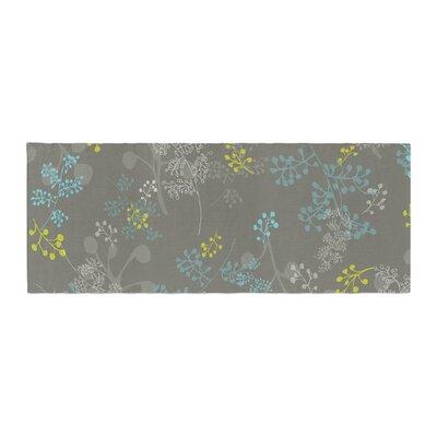 Laurie Baars Ferns Vines Floral Bed Runner Color: Green