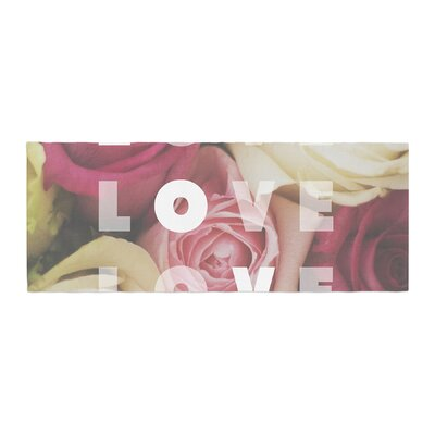 Libertad Leal Love Love Love Roses Bed Runner