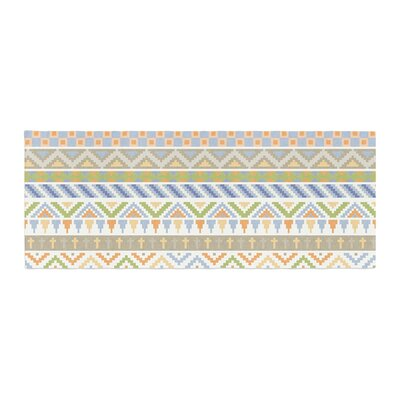 Noonday Design Happy Tribal Pattern Abstract Bed Runner