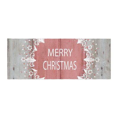 Suzanne Carter Merry Christmas Holiday Typography Bed Runner