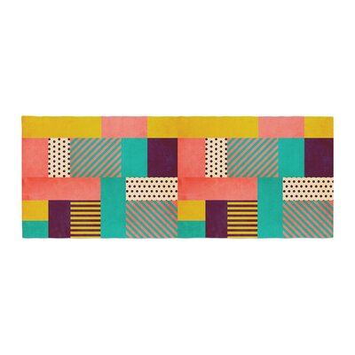 Louise Machado Geometric Love Abstract Bed Runner
