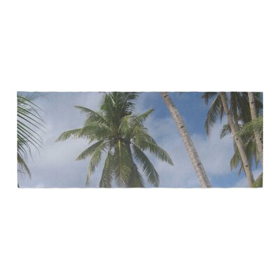 Susan Sanders Sky Ocean Palm Trees Photography Bed Runner