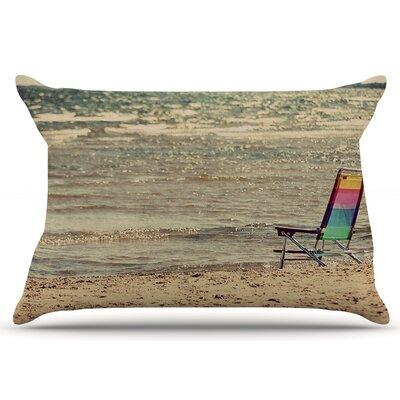 Angie Turner Beach Chair Sandy Beach Pillow Case