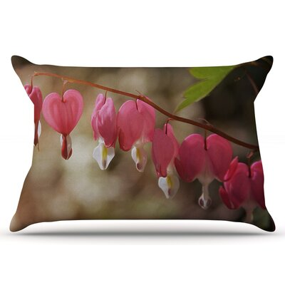 Angie Turner Bleeding Hearts Flower Pillow Case