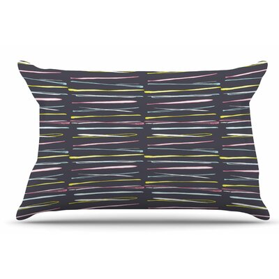 MaJoBV Rosewall Thorns / Gray Stripes Pillow Case