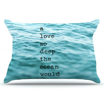 Debbra Obertanec Crave Love Ocean Pillow Case
