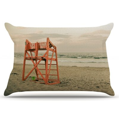 Debbra Obertanec Dusk At The Beach Ocean Pillow Case