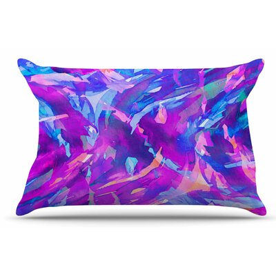 Ebi Emporium Motley Flow 2 Pillow Case Color: Purple/Blue