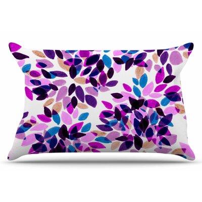 Ebi Emporium Dahlia Dots 2 Pillow Case Color: Pink/Purple