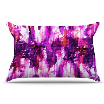 Ebi Emporium White Noise 4 Pillow Case Color: Purple/Magenta