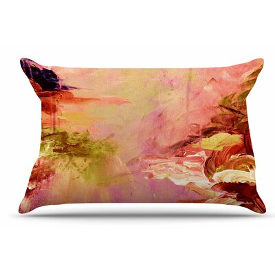 Ebi Emporium Winter Dreamland 3 Pillow Case Color: Pink/Orange
