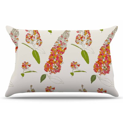 Gukuuki Barika Belva Coral Floral Pillow Case