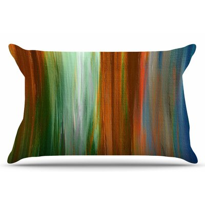 Ebi Emporium Irradiated 4 Pillow Case Color: Brown/Green
