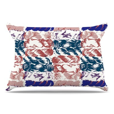 Fernanda Sternieri Nice Knot Pillow Case Color: Blue/Red