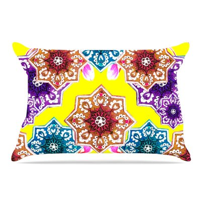 Fernanda Sternieri Flower Power Floral Pillow Case Color: Yellow
