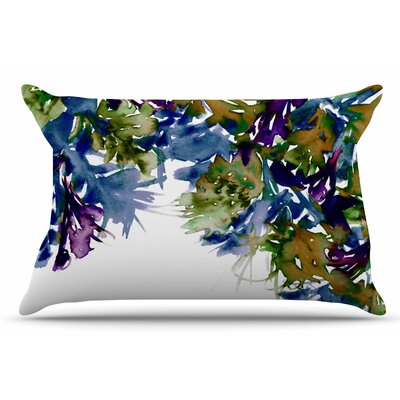 Ebi Emporium Floral Cascade 4 Pillow Case Color: Purple