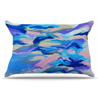 Ebi Emporium Still Up The Air Pillow Case Color: Blue/Purple