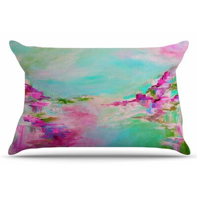 Ebi Emporium Something About The Sea 3 Pillow Case Color: Teal/Pink