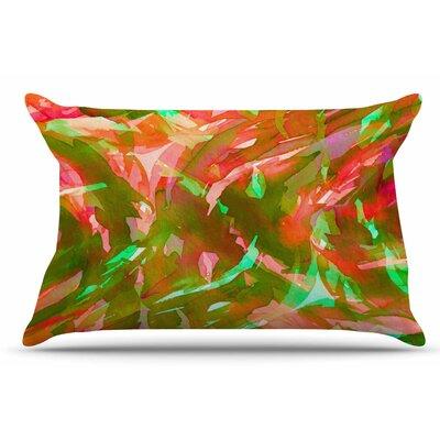 Ebi Emporium Motley Flow 2 Pillow Case Color: Green/Red
