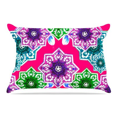 Fernanda Sternieri Flower Power Floral Pillow Case Color: Red/Magenta
