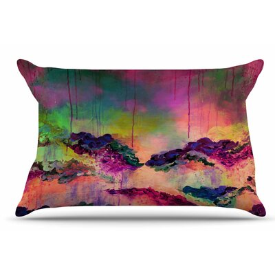 Ebi Emporium ItS A Rose Colored Life 4 Pillow Case Color: Magenta/Orange