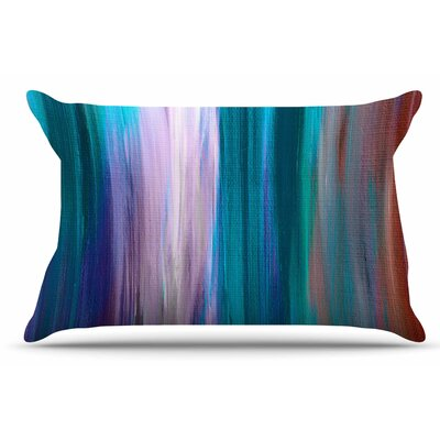 Ebi Emporium Irradiated 4 Pillow Case Color: Teal/Lavender
