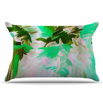 Ebi Emporium Deconstructing The Garden 2 Pillow Case Color: Green/Olive