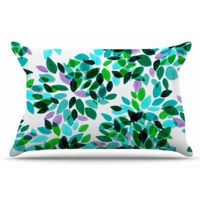 Ebi Emporium Dahlia Dots 2 Pillow Case Color: Teal/Green