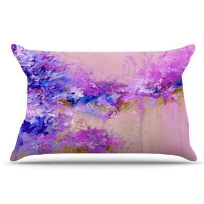 Ebi Emporium When Land Met Sky 3 Pillow Case Color: Purple/Pink