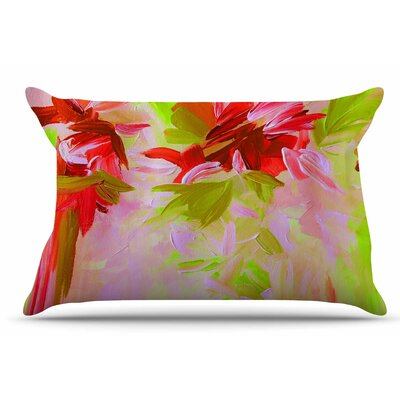 Ebi Emporium Deconstructing The Garden 2 Pillow Case Color: Red Orange