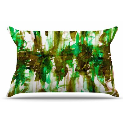 Ebi Emporium White Noise 4 Pillow Case Color: Green/Olive