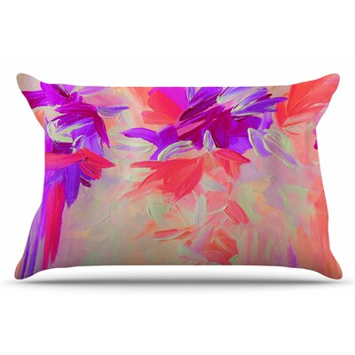 Ebi Emporium Deconstructing The Garden 2 Pillow Case Color: Purple/Pink