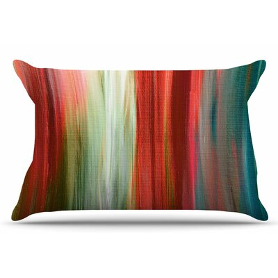 Ebi Emporium Irradiated 4 Pillow Case Color: Red/Olive