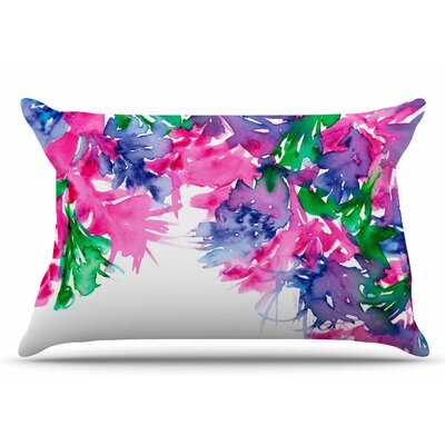 Ebi Emporium Floral Cascade 4 Pillow Case Color: Pink