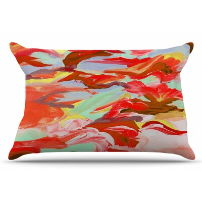 Ebi Emporium Still Up In The Air 4 Pillow Case Color: Red/Brown