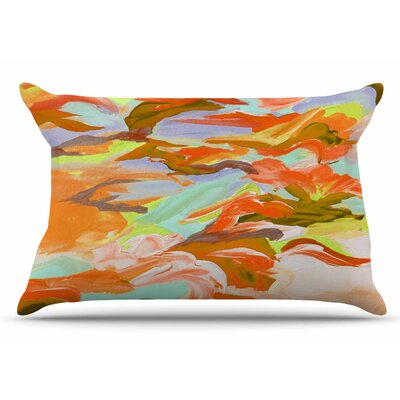 Ebi Emporium Still Up In The Air 4 Pillow Case Color: Yellow/Orange